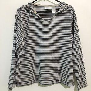 🛍💰Liz Claiborne Striped Long Sleeve Shirt